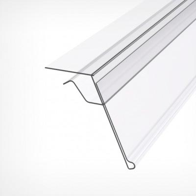 Ценникодержатель с креплением на стекло и тонкие полки, GLS