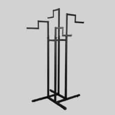Стойка (вешало) напольная для одежды, регулируемая с 4-мя ступенчатыми кронштейнами СТ-42-2-Л(черн)