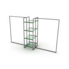 Вешало центровое однорядное PRS.021 с матовым стеклом