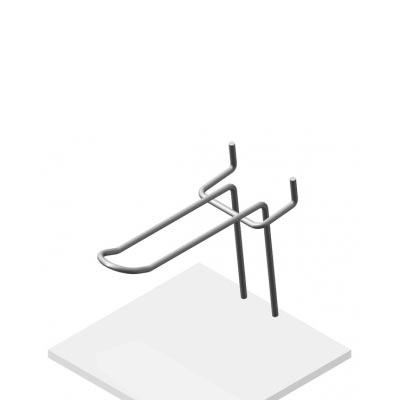 Крючок язычковый на перфорацию Парус, К.П.02(9006)