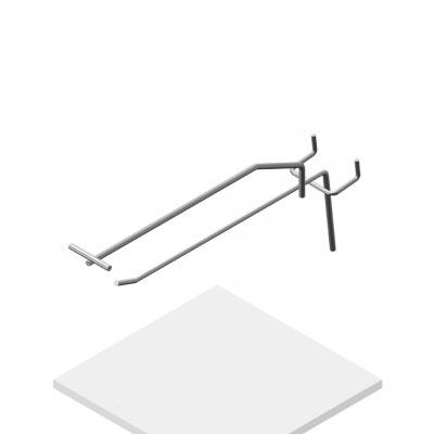 Крючок штыревой с ЦД на перфорацию Парус, К.П.03(9006)