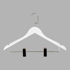 Деревянная вешалка с зажимами для брюк и юбок 66NB/1